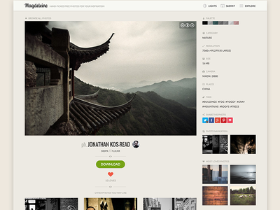 Magdeleine - Single post page  photos photography free