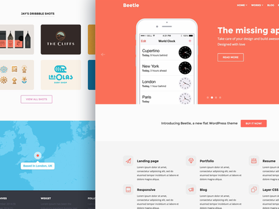 Beetle for WP - A Theme for Designers wordpress themes theme portfolio mockups psd iphone ipad flat
