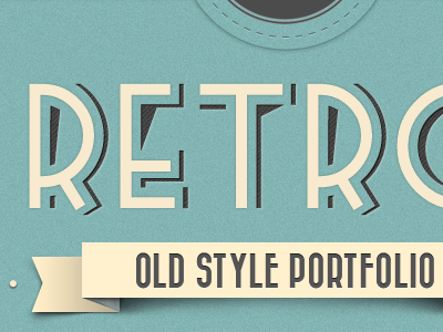 Retro Web Design awesome clean cool creative cyan design look old style red retro stylish vintage jquery html5 typography