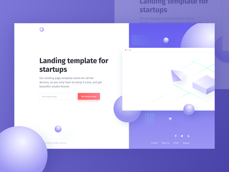 Holly - HTML/CSS Landing page theme design design template landing page html freebies freebie free css
