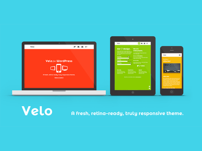 Velo - A Fresh, Retina-Ready and Responsive WP Theme
