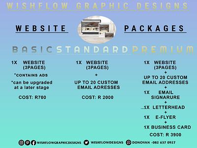 WishFlow Graphic Designs - E-Flyer/Web Design Packages web design graphic design ux vector ui typography logo illustration icon design branding app