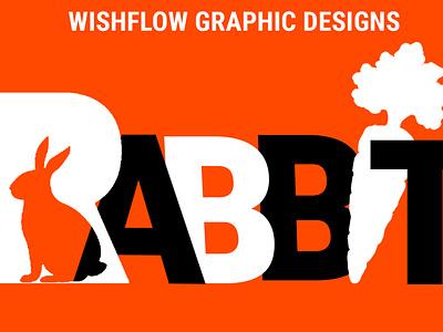 RABBIT Logo Design - WishFlow Graphic Designs rabbit graphic design ux vector ui typography logo illustration icon design branding app