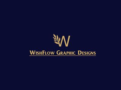WishFlow Graphic Designs Logo elegant stylish minimalism minimalistic minimal freelancer freelance business brand advertisement dribbble wishflow flow wish graphic design typography logo illustration design branding