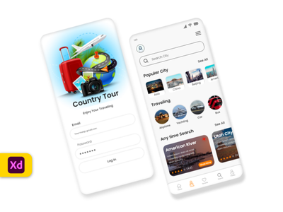 City traveling design ui ux minimal app photo travel trip traveling travel app map vacation ios clean tourism tours mobile ticket city