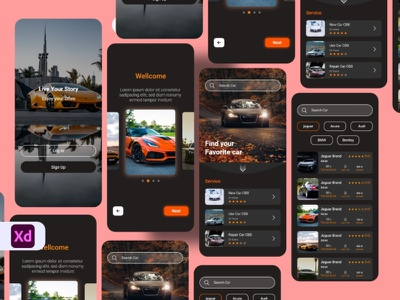 Car app concept food delivery mobile app mobileapp search booking rental card driver driver car tesla luxury luxury car app car app car ui mobile