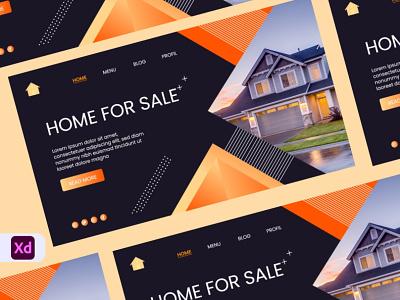 Home Sale Landing page Header Design mordern new design property real state trendy ux ui user