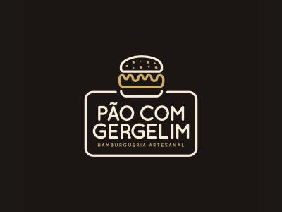 Pão com Gergelim pão com gergelim mark burgers symbol logo food flat burger branding brand