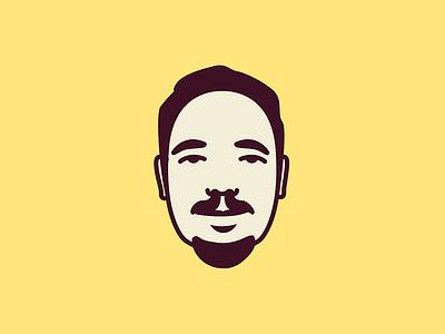 Dio face self-portrait diogo illustration dude man profile avatar person
