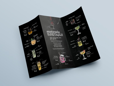 Cocktail Anatomy. menu design final drink illustration branding design print menu