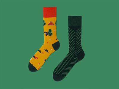 collection of socks, autumn - winter 2016 for Many mornings product pattern funny textile design sock