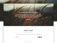 Subtler WP theme