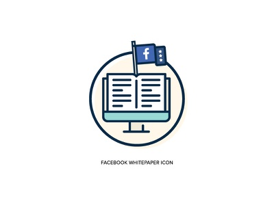 Facebook Whitepaper Icon | Oak Group whitepaper white paper social media circle flag flat book logo facebook icon