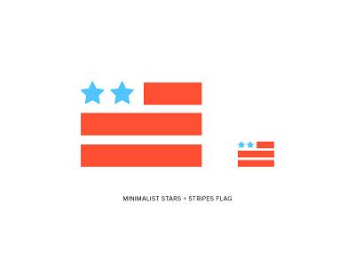 Minimalist American Flag Icon | Oak Group logo presidential president flat icon flat american flag politics political american america flag