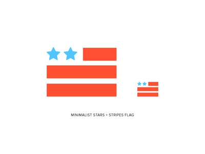 Minimalist American Flag Icon   Oak Group logo presidential president flat icon flat american flag politics political american america flag