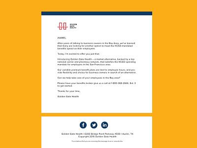 Golden Gate Health | Modern Email Template Design flat insurance health email templates email template modern innovative email designs emails email