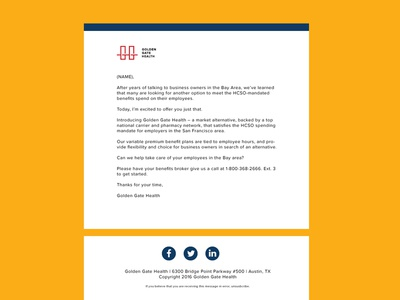 Golden Gate Health   Modern Email Template Design flat insurance health email templates email template modern innovative email designs emails email