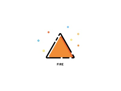 Icons   Element Series   Fire vector elementals elements hot fire illustration icons icon