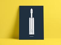 Flat Illustration | Falcon Heavy