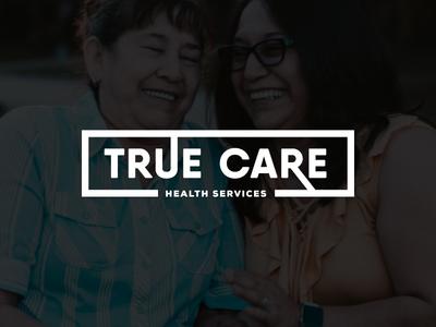 True Care Health Services Rebrand   Hospice Typographic Logo lettering logos modern identity branding hospital hospice typography rebrand logo logotype design logotype