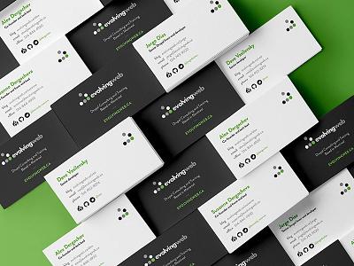 Evolving Web Business Cards branding identity business card web development stationery