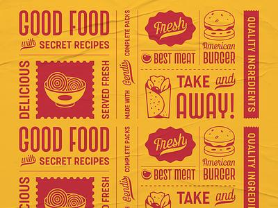 Gendis Fonts Pack burger logo burgers burger menu food and drink clean food illustration food label creative vintage typeface illustration typography branding surotype