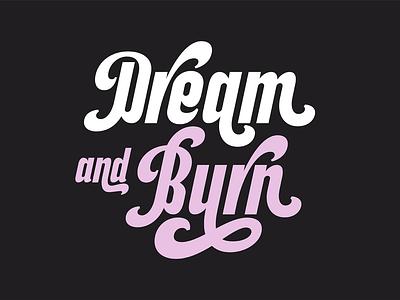 Dream and Burn - Lettering free fonts retro design logo illustration vintage logotype branding lettering typography surotype