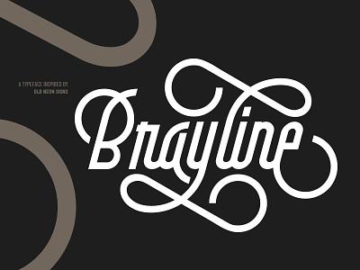 Brayline Typeface signage branding logo logotype retro vintage monoline typography lettering typeface
