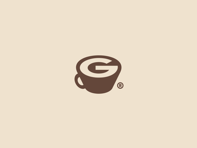 G-Coffee branding design letter g icon surotype inspired creative coffee logo