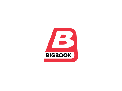 Big Book branding brand logotype logogram surotype letters b creative book logo
