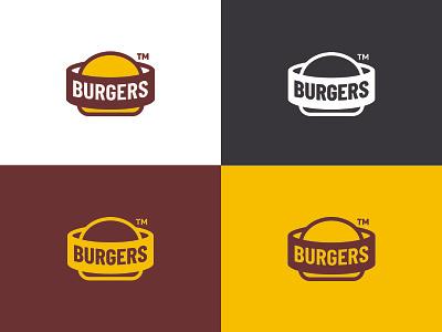 BURGERS simple creative logotype identity flat surotype monoline icon branding logos logo burger