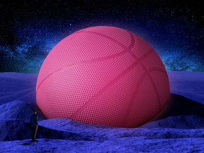 Hello Dribbble! dribbble pink first first shot hello hello dribble branding c4d 3d