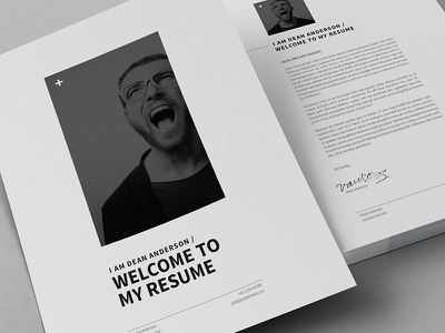 12 Pages Minimal Resume / CV a4 cover letter cv egotype indesign infographics job minimal resume swiss template us