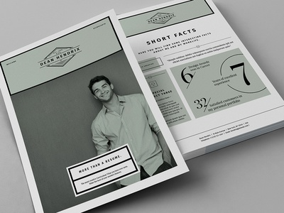 13 Pages Minimal Resume / CV us template swiss resume minimal job infographics indesign egotype cv cover letter a4