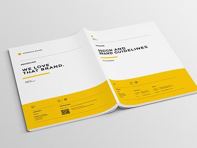 Dribbble print minimal manual identity guidelines guide egotype corporate identity brandbook brand guide brand agency