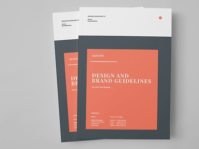 Brand Manual print minimal manual identity guidelines guide egotype corporate identity brandbook brand guide brand agency