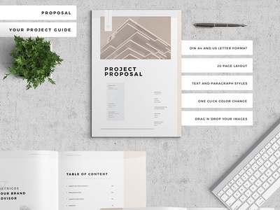 Proposal Pitch Pack pastel invoice estimate resume feminine template brief proposal adobe indesign pack pitch