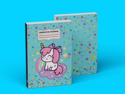 Composition Notebook Cover For KDP graphic design