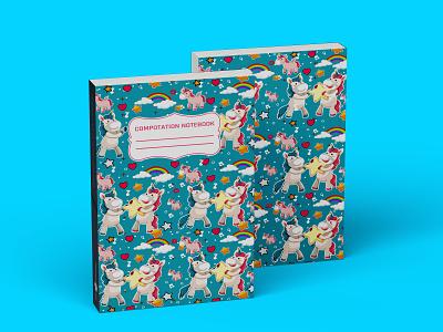 Composition Notebook Cover For KDP design illustration kdp book cover kdp book cover graphic design
