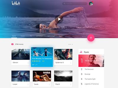 Homepage of A Video Sharing Website video ui webiste