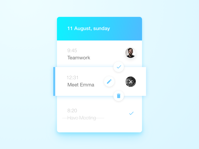day41-Todolist floating button to do list list neat cloud day41 041 dailyui