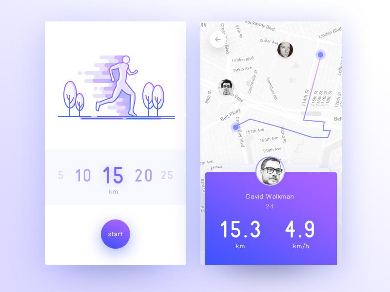 Jogging App cycling record ios card sports jogging