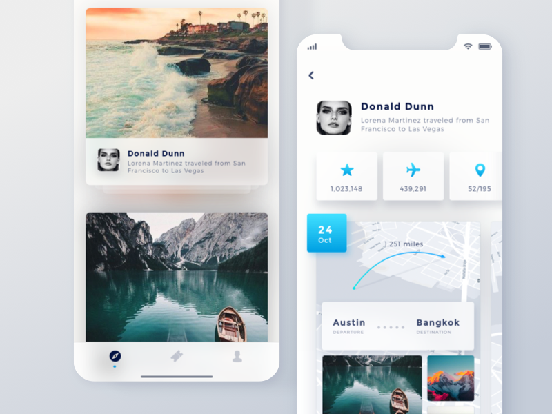 Travel app dribbble