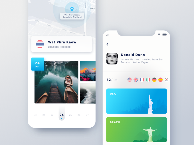 Travel App for iphone x color neat app android ios 11 travel