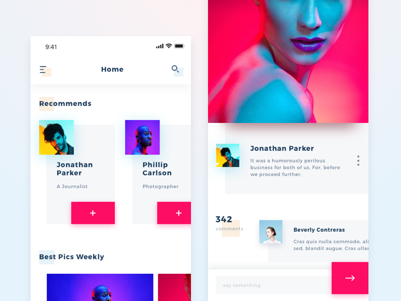 Concept - Pic Social Network