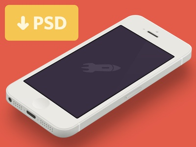 Minimal iphone 5 template dribbble