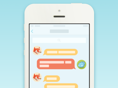 iOS 7 Chat View Interaction (Animation and Freebie) thoughts and ideas quartz composer freebie download simple flat ios7 translucent scroll animation interaction zoom