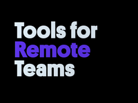 Remote Tools for Teams studio designstudio remotework wfh team tools remote