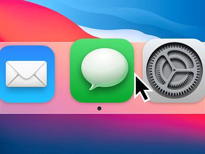 macOS Big Sur Dynamic Icon prototype drama icon animation transition ui app macos interaction