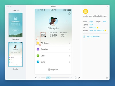Sketch Viewer - Spec App Concept for Sketch mac app concept spec idea sketch product ui